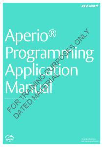 Aperio Programming Application Manual