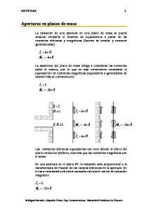Aperturas en planos de masa