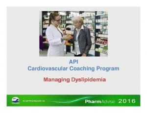 API Cardiovascular Coaching Program. Managing Dyslipidemia