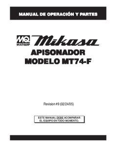 APISONADOR MODELO MT74-F