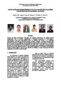 APLICAÇÃO DO EUROCÓDIGO 5 NA AVALIAÇÃO DE LIGAÇÕES TRADICIONAIS DE MADEIRA AO FOGO