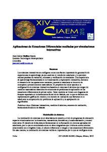 Aplicaciones de Ecuaciones Diferenciales mediadas por simulaciones interactivas
