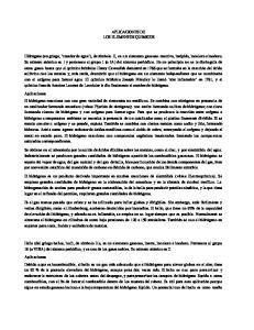 APLICACIONES DE LOS ELEMENTOS QUIMICOS