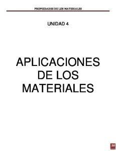 APLICACIONES DE LOS MATERIALES