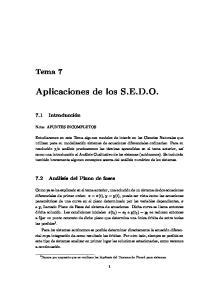 Aplicaciones de los S.E.D.O