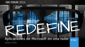 Aplicaciones de Microsoft en una nube. Sesión 3250