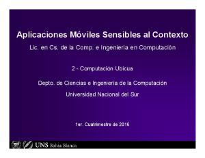 Aplicaciones Móviles Sensibles al Contexto