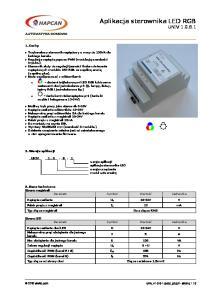 Aplikacja sterownika LED RGB UNIV