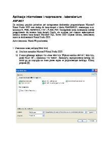 Aplikacje internetowe i rozproszone - laboratorium