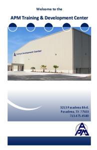 APM Training & Development Center
