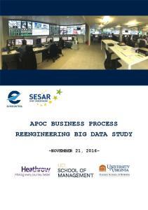 APOC BUSINESS PROCESS REENGINEERING BIG DATA STUDY