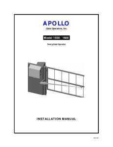 APOLLO Gate Operators, Inc