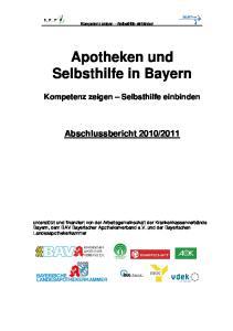 Apotheken und Selbsthilfe in Bayern