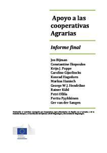 Apoyo a las cooperativas Agrarias