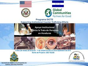 Apoyo Institucional Contra la Trata de Personas en Honduras
