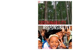APP Environmental and Social Sustainability Report for Indonesia SUSTAINABILITY RESPONSIBILITY
