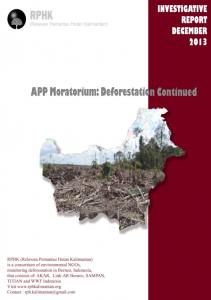 APP s forest conservation policy and deforestation