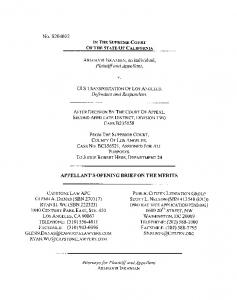 APPELLANT S OPENING BRIEF ON THE MERITS