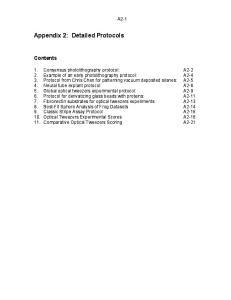 Appendix 2: Detailed Protocols
