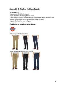 Appendix 2: Student Uniform Details