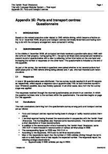 Appendix 3E: Ports and transport centres: Questionnaire