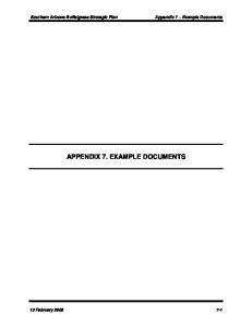 APPENDIX 7. EXAMPLE DOCUMENTS