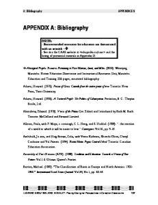 APPENDIX A: Bibliography