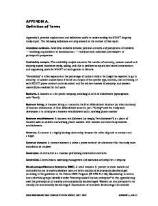 APPENDIX A. Definition of Terms