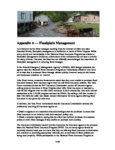 Appendix A Floodplain Management