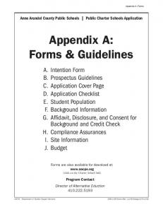 Appendix A: Forms & Guidelines