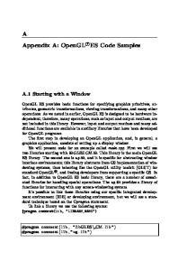Appendix A: OpenGL r ES Code Samples