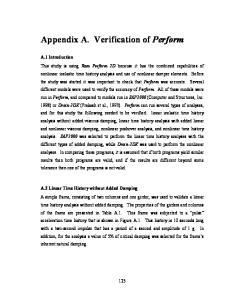 Appendix A. Verification of Perform