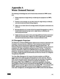 Appendix A Water Demand Forecast