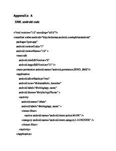 Appendix A XML android code