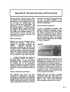 Appendix B: Accuracy, Precision, and Uncertainty