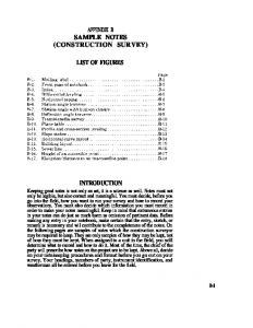 APPENDIX B SAMPLE NOTES (CONSTRUCTION SURVEY) LIST OF FIGURES INTRODUCTION