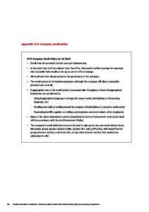 Appendix B.3 Company  policy