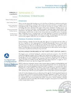 Appendix C: Funding Strategies