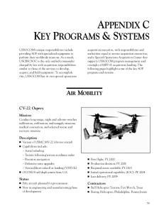 APPENDIX C KEY PROGRAMS & SYSTEMS