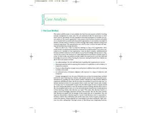 Appendix Case Analysis