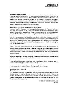 APPENDIX D Biosafety Laboratories