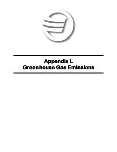 Appendix L Greenhouse Gas Emissions