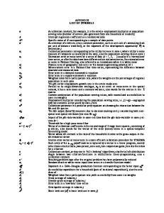 APPENDIX LIST OF SYMBOLS