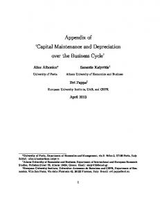 Appendix of Capital Maintenance and Depreciation over the Business Cycle