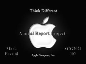 Apple Inc K Annual Report