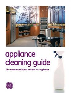appliance cleaning guide