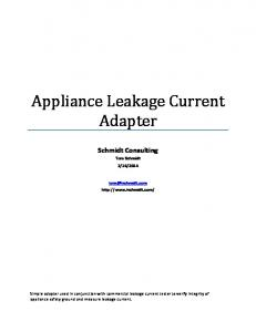 Appliance Leakage Current Adapter