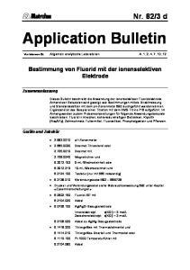 Application Bulletin