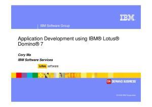 Application Development using IBM Lotus Domino 7