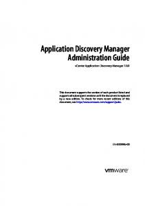 Application Discovery Manager Administration Guide vcenter Application Discovery Manager 7.0.0